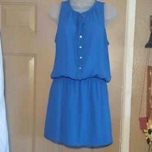 AQUA ROYAL BLUE DRESS-SIZE MED-PERFECT CONDITION